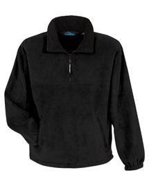 Big and Tall Mens 1/4 Zip Panda Fleece Jacket With Trim