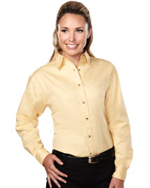 Womens 60/40 stain resistant long sleeve twill shirt.
