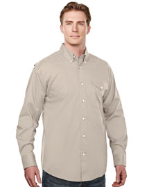 Men's Cotton/Poly 60/40 LS Woven Shooting Shirt,