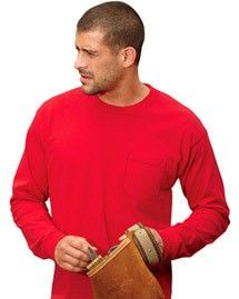 Bayside 8100 USA Pocket L/S T at bigntallapparel