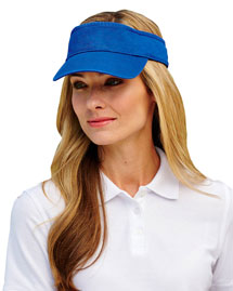 Ultraclub 8103  Solid Visor at bigntallapparel
