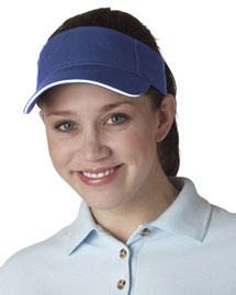 UltraClub 8113 Sandwich Brushed Visor at bigntallapparel