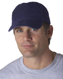 UltraClub 8116 Solid Brushed Cap at bigntallappare