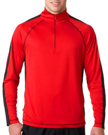 Ultraclub 8398 100% Polyester 1/4 Zip at bigntallapparel