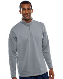 UltraClub 8440 Poly Zip 1/4 Zp Fleece at bigntallapparel