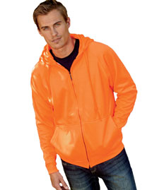 Ultraclub 8463 Thermal Full Zip Sweatshirt at bigntallapparel