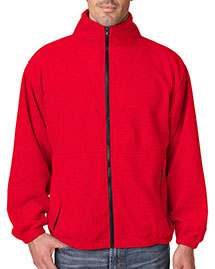 Ultraclub 8485    ® Men's Iceberg Fleece Full-Zip Jacket  at bigntallapparel
