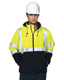 Men's 100% Polyester Water-Resistant Fleece-lined Safety Jacket.