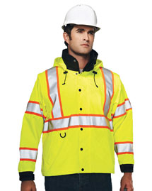 Men's 100% Polyester Water-Resistant Safety 3-IN-1 Jacket.
