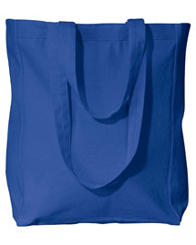 UltraClub 8861 Canvas Tote W/Gusset at bigntallapparel