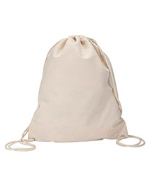 Ultraclub 8875BND   8875  Cotton Canvas Drawstring Pack  at bigntallapparel