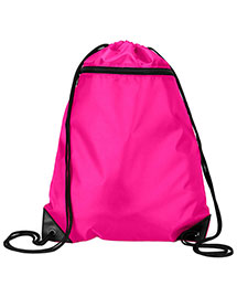 Ultraclub 8888     Zippered Drawstring Backpack  at bigntallapparel