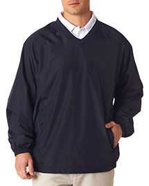 Ultraclub 8937    ® Adult Micro-Poly Windshirt  at bigntallapparel