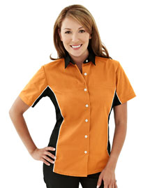 Tri-Mountain 904 Tmr Women's 60/40 Twill Shirt With Piping
