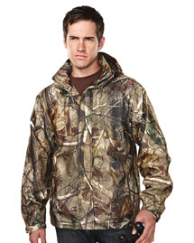 Tri-Mountain 9486C Men's 100% Polyester Camo Jacket, at bigntallapparel