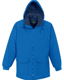 Nylon Hooded Parka Jacket With Fleece Lining
