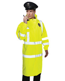 Tri-Mountain 9930 Men's 100% Polyester Safety Raincoat w/ Hood. at bigntallapparel