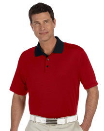 Adidas A119 Men's Climalite® Classic Stripe Short-Sleeve Polo at bigntallapparel