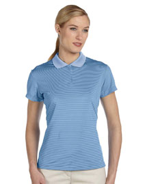 Adidas A120 Ladies' Climalite® Classic Stripe Short-Sleeve Polo at bigntallapparel