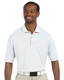 Adidas A160 Men's ClimaLite® Pencil Stripe Polo at