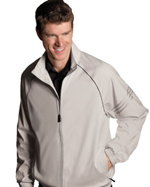 Adidas A69 Men's ClimaProof® 3-Stripes Full-Zip Jacket at bigntallapparel