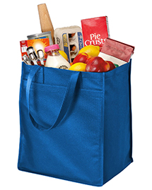 Port & Company B160 Extra-Wide Polypropylene Grocery Tote.  at bigntallapparel