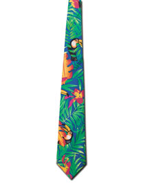 Blue Generation BLG1291 Mens Tucan Tropical Tie at bigntallapparel