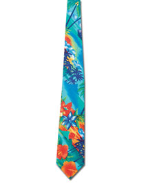 Blue Generation BLG1293 Mens Tropical Tie at bigntallapparel