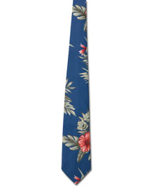 Blue Generation BLG1295 Mens Floral Tropical Tie at bigntallapparel