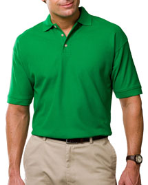 Blue Generation BLG2201 Mens Short Sleeve 100% Cotton Pique Polo at bigntallapparel