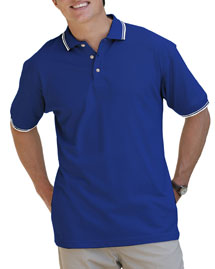 Blue Generation BLG7205 Mens Short Sleeve Tipped Collar & Cuff Piques at bigntallapparel