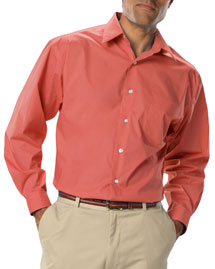 Mens Long Sleeve Easy Care Stretch Poplin