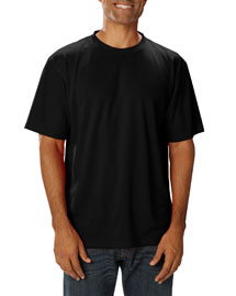 Blue Generation BLG7221 Mens Short Sleeve 3m Scotchgard Wicking Crew Tee at bigntallapparel