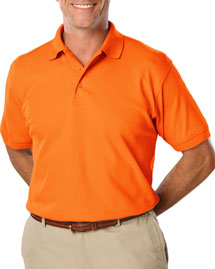 Blue Generation BLG7510 Mens High Visibility Pique Polo at bigntallapparel
