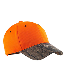 Port Authority C804  Safety Cap with Camo Brim. at
