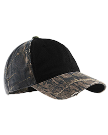 Port Authority C807 Camo Cap with Contrast Front Panel. at bigntallapparel