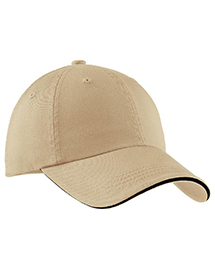 Port Authority Signature C830 Mens Sandwich Bill Cap With Striped Closure at bigntallapparel