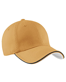 Port Authority Signature C839 Mens Double Piping Sandwich Bill Cap at bigntallapparel