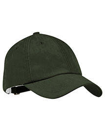 Port Authority Signature C850 Mens Sueded Cap at bigntallapparel