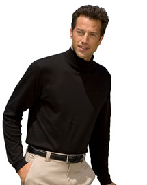 Chestnut Hill CH230 Mens Pima Cotton Mock Neck at