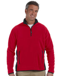 Mens Polartec® Colorblock Quarter-Zip Jacket