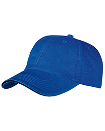 Port & Company CP79 Mens Washed Twill Sandwich Cap at bigntallapparel