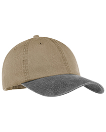 Port & Company CP83 Mens 2 Tone Pigment Dyed Cap at bigntallapparel