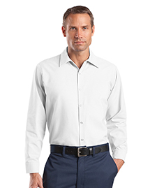 CornerStone CS16 Mens Long Sleeve Pocketless Snap