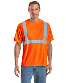 CornerStone CS401 Mens Ansi Compliant Safety Work T Shirt at bigntallapparel