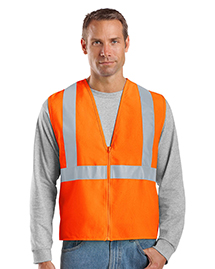 CornerStone CSV400 Mens Ansi Compliant Safety Work Vest at bigntallapparel