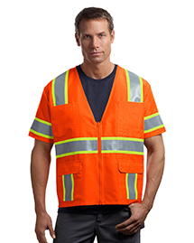 CornerStone CSV406 Mens ANSI Class 3 Dual-Color Safety Vest at bigntallapparel