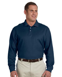 Mens Pima Pique Long Sleeve Polo