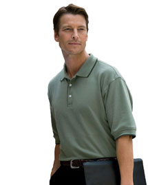 Devon & Jones D120 Mens Tipped Pique Polo at bignt