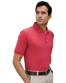 Mens Recycled Pima Melange Pique Polo